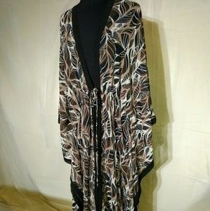 Plus Size Maxi Sheer Cover Up Lounger SZ 22/24